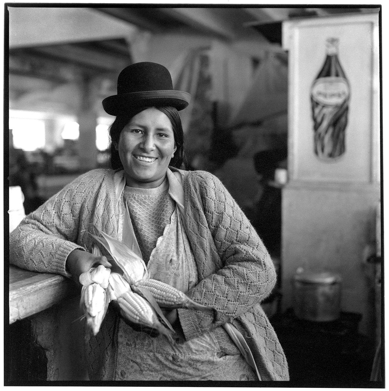 """Bolivia, serie over vrouwen die een micro-krediet hebben gekregen. Deze serie is genomineerd bij de Zilveren Camera in de catagorie """"serie Portretten"""""""