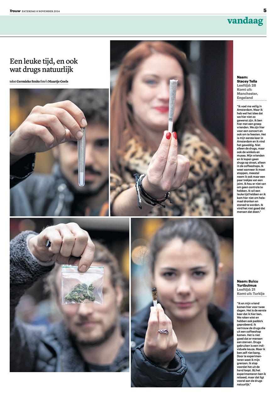 foto's bij artikel over drugstoeristen voor het Dagblad Trouw